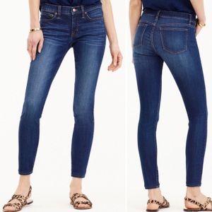 J Crew Signature Toothpick dark wash skinny jeans